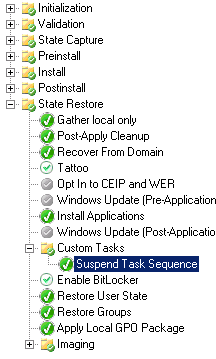 MDT 2012 will HideShell=YES and LTISuspend wsf work together