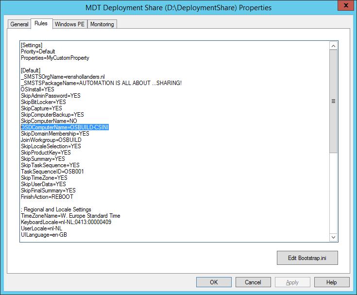 MDT - Unattended xml, CustomSettings ini, Task Sequence Variable