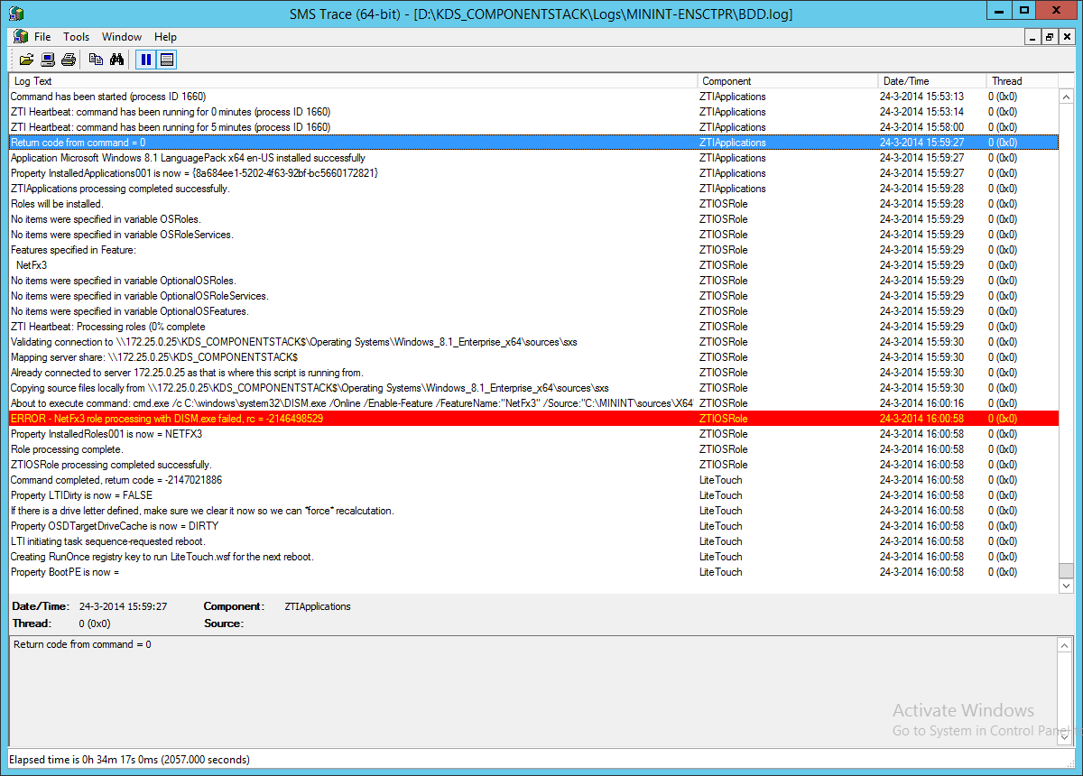 Windows 8 1 - Installation of NetFx3 by command line will