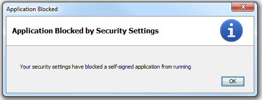 java selfsigned blocked