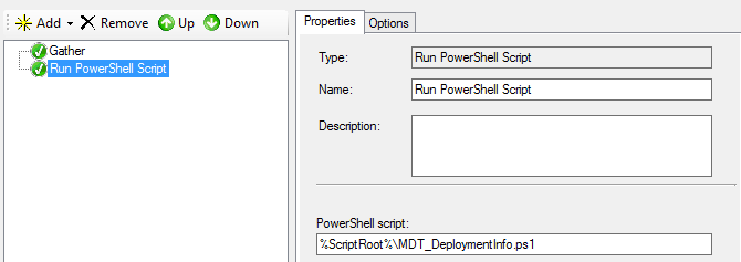 MDT - Add deployment information with PowerShell and perform